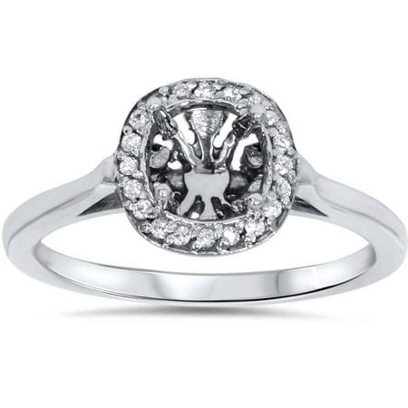 Diamond Engagement Ring Semi Mount 14K White Gold - image 4 of 4