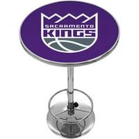 "Trademark NBA Sacramento Kings 42"" Pub Table, Chrome"
