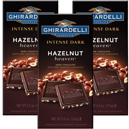 (2 Pack) Ghirardelli Chocolate Intense Dark Bar, Hazelnut Heaven, 3.5 Ounce Bars - White Chocolate Fingers Halloween