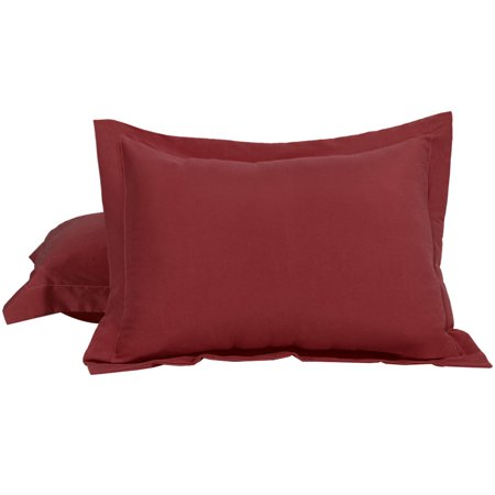 2 Pack King Pillow Shams 1800 Microfiber Oxford Pillow Cases Cover ()