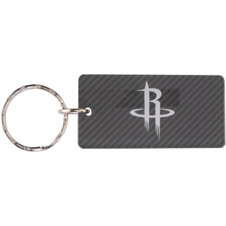 Houston Rockets Carbon Rectangle Acrylic Keychain - No Size