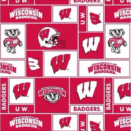 Outdoor Research Fleece (University of Wisconsin Fabric Super Soft Fleece Classic Geometric Design-Sold by the Yard )