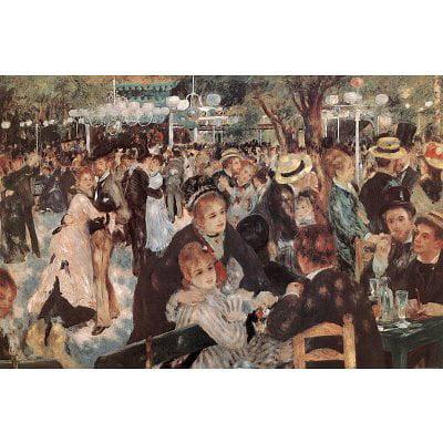 Pierre Auguste Renoir - Ball At The Moulin De La Galette Art Print Poster New (Renoir Ball At The Moulin De La Galette)