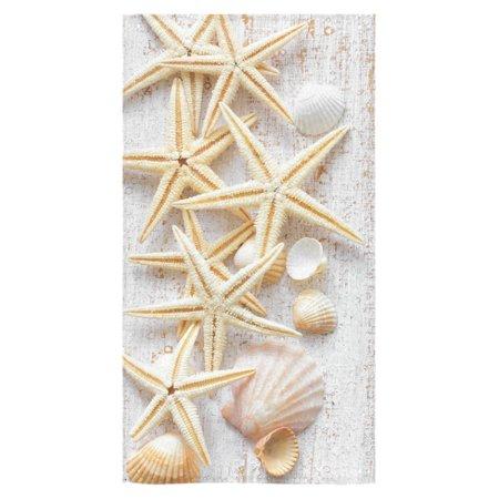 ZKGK Seashell Starfish Hawaii Beach Wood Marine Nautical Bath Towels Bathroom Body Shower Towel Bath Wrap For Home,Outdoor and Travel Use,30