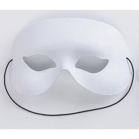 Mask Quarter Face White 6.5In (Tool No Quarter Halloween)