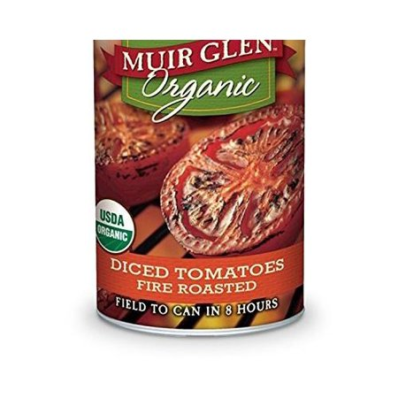Organic Diced Tomatoes - 12 Pack :       Muir Glen Organic Diced Tomatoes, Fire Roasted, 14.5 Oz