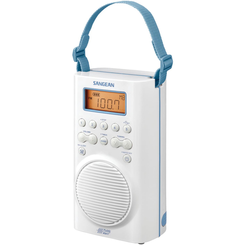 Sangean H205 AM FM Weather Alert Waterproof Shower Radio by Sangean