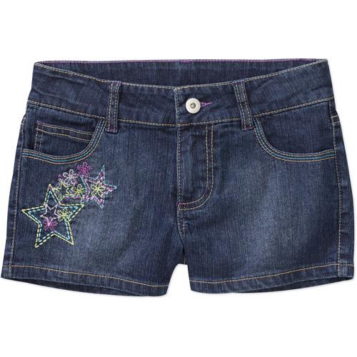 Faded Glory - Girls Embriodery Pocket Denim Short Short