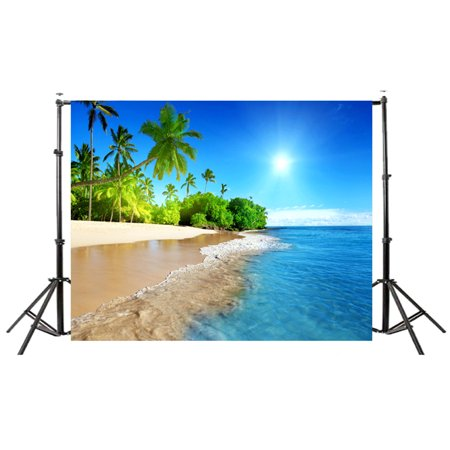 Beach Themed Photo Backdrops (Summer Seascape Beach Dreamlike Haloes 3D Photography Background Screen Photo Video Photography Studio Fabric Props Backdrop,)