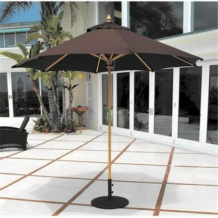 Galtech 9 ft. Light Wood All Purpose Wood Umbrella - Thatch ()
