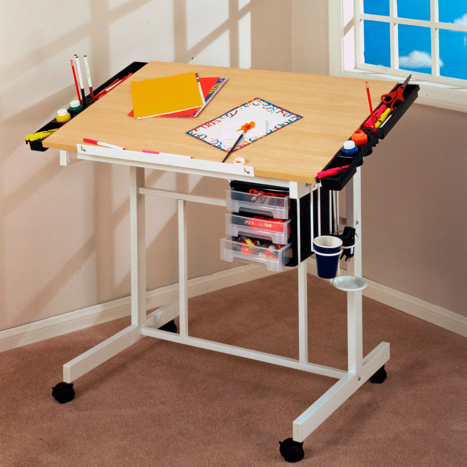 Incroyable Studio Designs Deluxe Rolling Drafting Table Station   Walmart.com