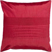 "22"" Pomegranate Red Tuxedo Pleated Decorative Throw Pillow"