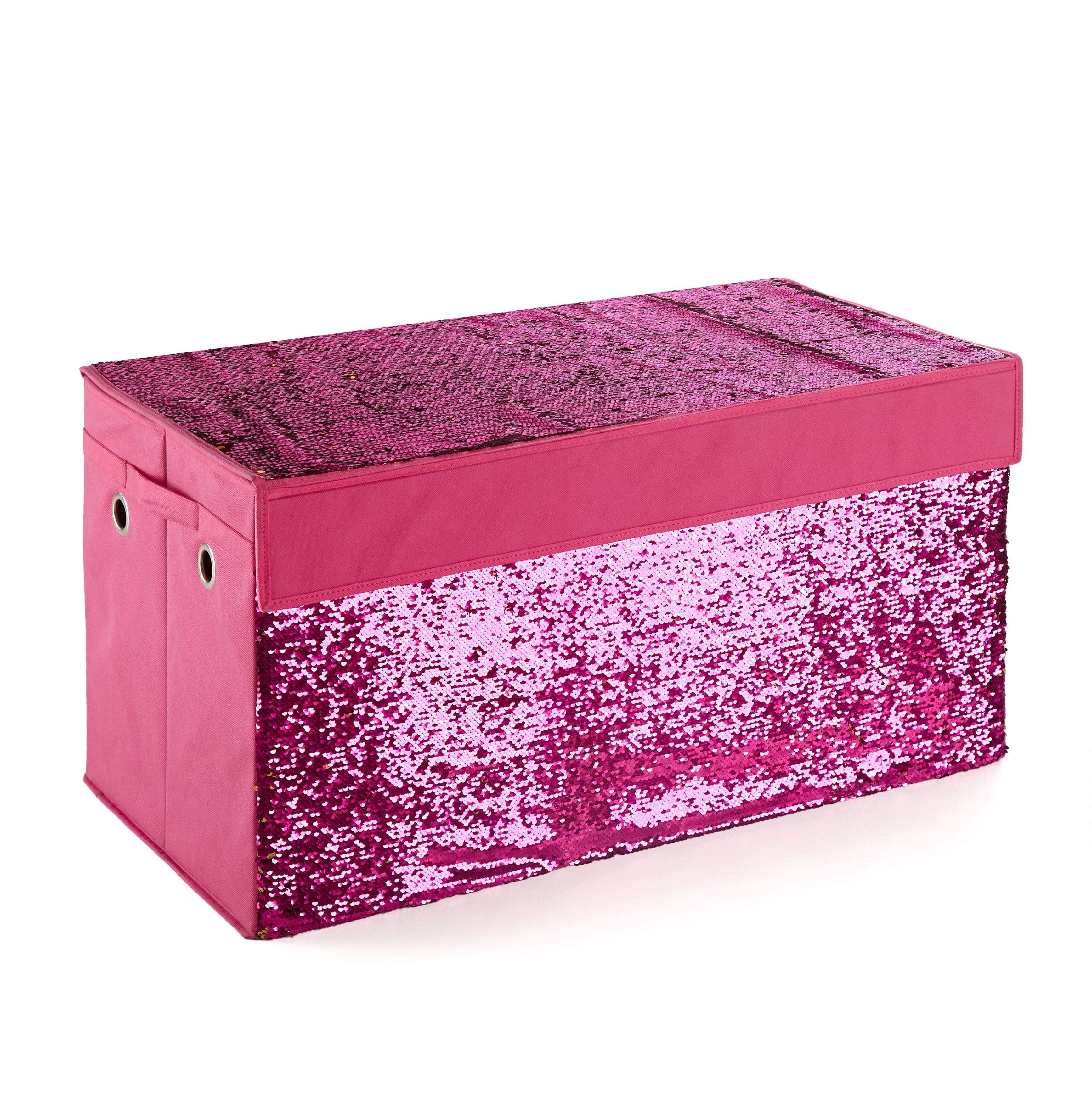 Urban Shop Sequin Reversible Collapsible Storage Toy Trunk
