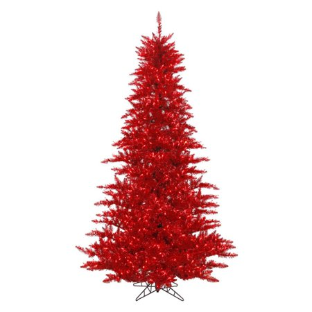 Vickerman Tinsel Red Fir Pre-lit Christmas Tree