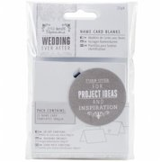 PM158160 Papermania Ever After Wedding Name Cards, White Die-Cut Heart
