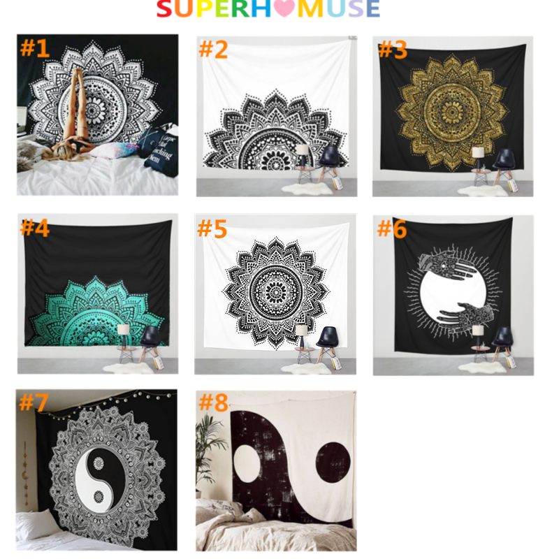 Muses Indian Wall Decor Hippie Tapestries Bohemian Mandala Tapestry Wall Hanging Throw