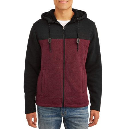 George Men's Full Zip Sherpa Sweater Fleece, up to Size (Patagonia Mens Better Sweater 1 4 Zip Sale)