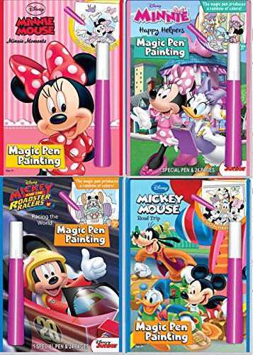 Disney Mickey /& Friends Invisible Ink Magic Pen Painting Activity Books for Girls and Boys with Zipafile Zipper bag bundle Happy Helpers Includes:MICKEY MOUSE and MINNIE MOUSE Minnie Moments