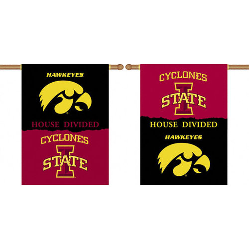 NCAA - Iowa Hawkeyes vs. Iowa State Cyclones 28x40 Double Sided House Divided Rivalry Banner