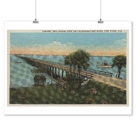 Ft. Lauderdale, FL - Tamiami Trail Bridge (9x12 Art Print, Wall Decor Travel (Tamiami Trail Sarasota Fl)