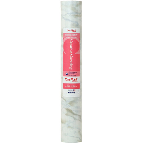 """Con-Tact Creative Covering Multipurpose Shelf Liner, 18"""" x 75' Roll, Marble White"""