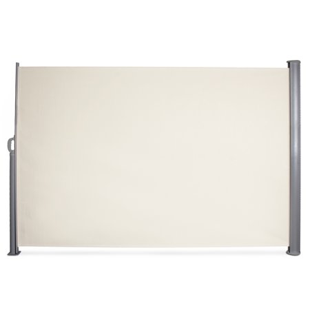 BELLEZE Retractable Side Awning Folding Screen Patio Garden Outdoor Privacy Divider 9.8 x 5.2ft, Beige
