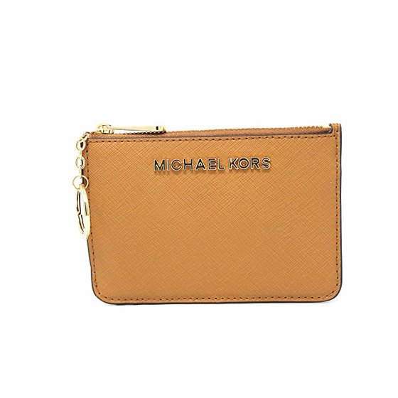 04cda26c72a9 Michael Kors - Michael Kors Saffiano Leather Jet Set Item Small TZ Coin  Pouch Card Case with ID Window (Acorn)(35H6GTTW5L) - Walmart.com