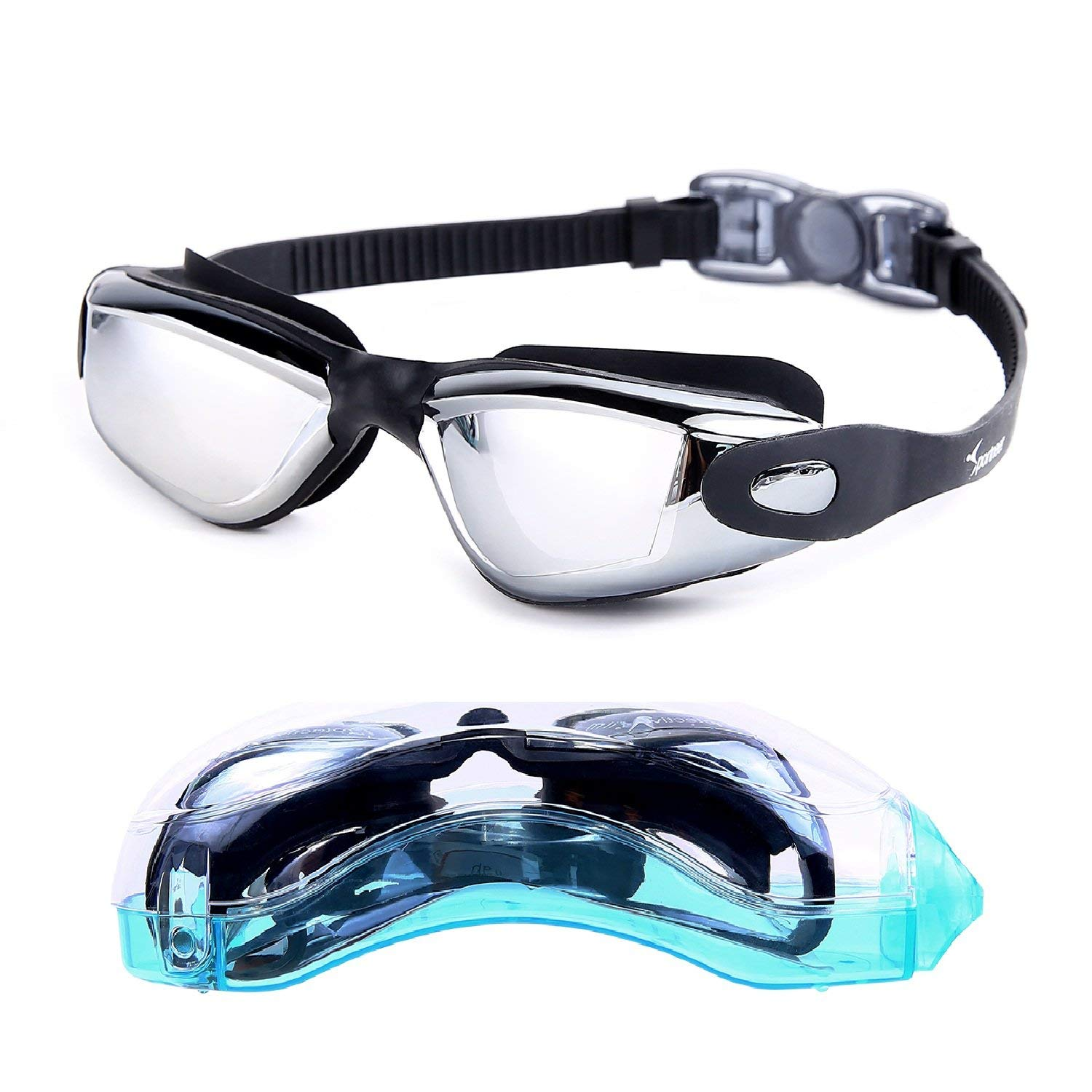 Sportneer Swim Goggle, Anti Fog and UV Protection Swimming Goggles for Adult Men Women Youth Kids Child by
