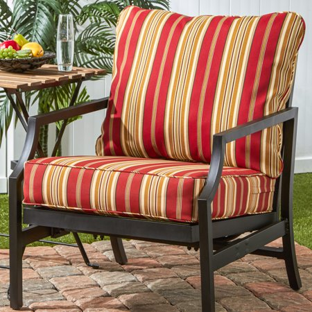 - Greendale Home Fashions Roma Stripe Outdoor Deep Seat Cushion Set