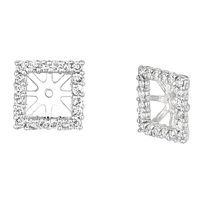 Harry Chad HC10861 1.01 CT Round Diamond 8 Mm Square Diamond Jacket Earrings, White Gold 14K - Color G-H - VS2 & SI Clarity - image 1 de 1