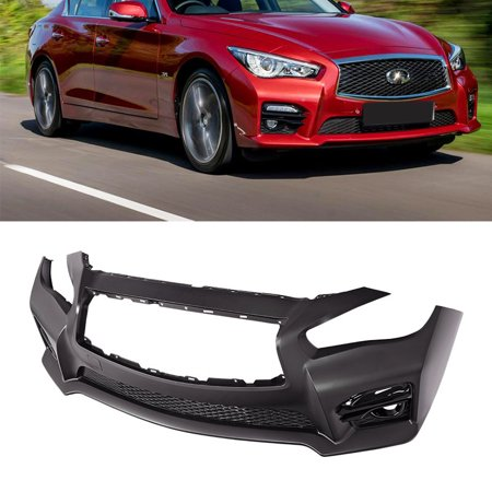 For 14-17 Infiniti Q50 Red Sport 400 Front Bumper Sedan Rogue Style JDM EAU 4 Dr