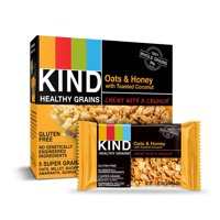 KIND Healthy Grains Granola Bar, Oats & Honey with Toasted Coconut, 5 Bars, Gluten Free, Healthy Grains Bars