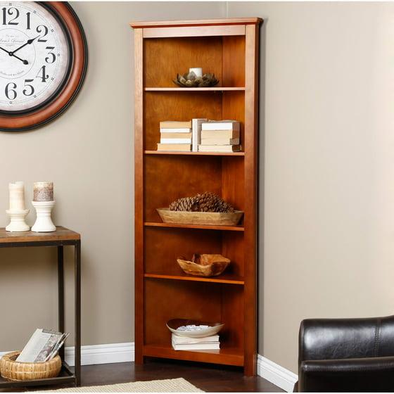 Finley Home Redford Corner Bookcase Oak