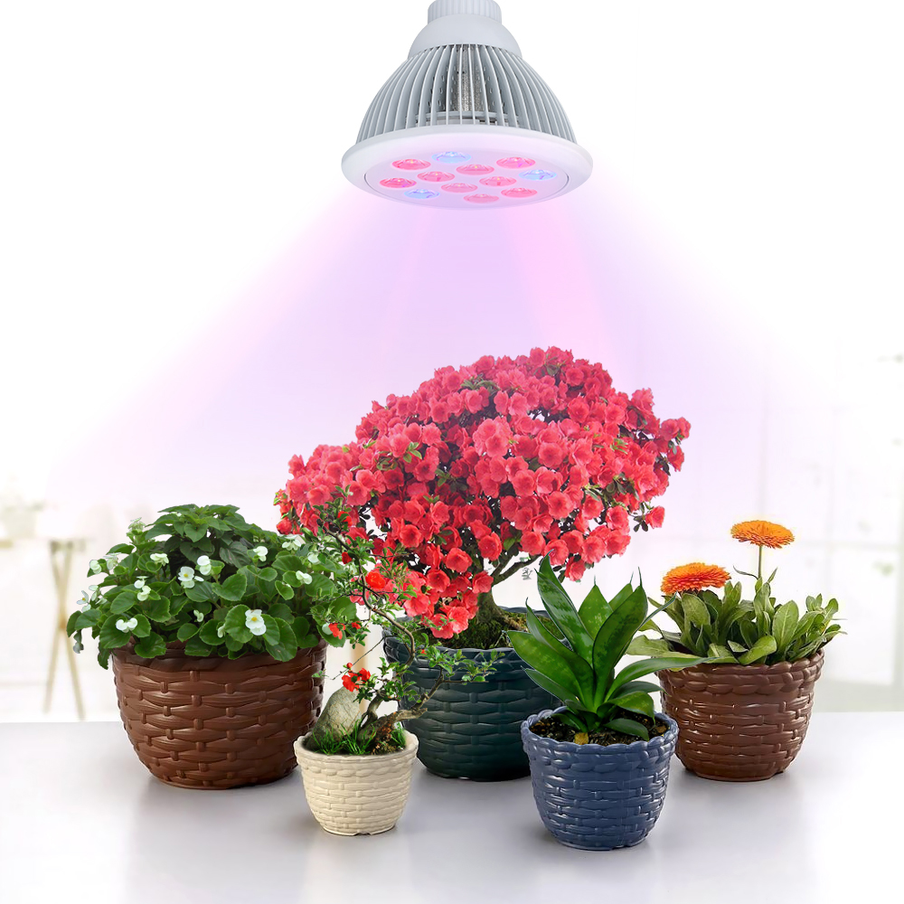 victsing 36w led plant growing lights e27 led grow light bulb for garden greenhouse and