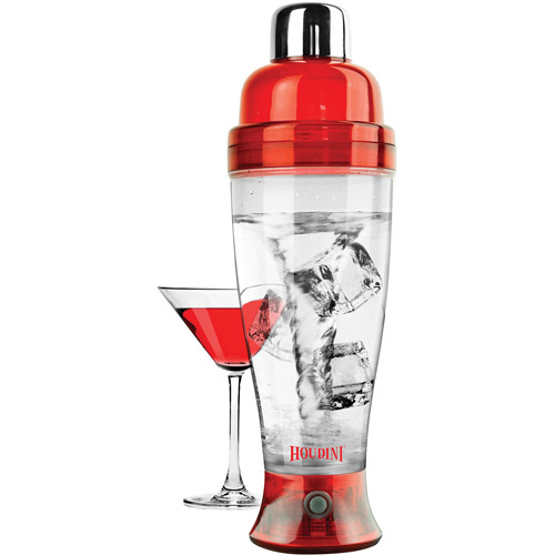 Houdini Electric Cocktail Mixer, Translucent Red by Metrokane