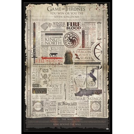 Game Of Thrones - Infographic Poster Poster Print