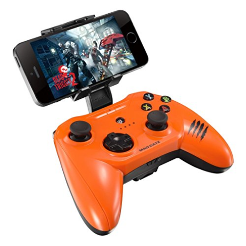Mad Catz C.T.R.L.i Mobile Gamepad for Apple iPod, iPhone, & iPad - Glossy Orange