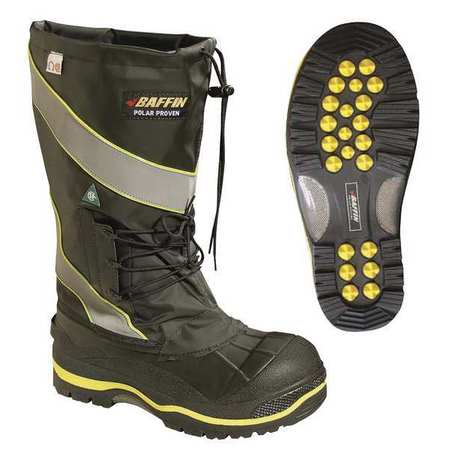 Baffin Size 13 Composite Toe Pac Winter Boots, Men's, Black, POLAMP02