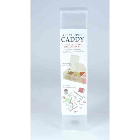 ALL Purpose Caddy 2xl - Size: 9 1/8 Inches L X 1 5/16 Inches W X 1 1/8 Inches H - Color Clear, 2xl 7 compartments By CRAFT MATES