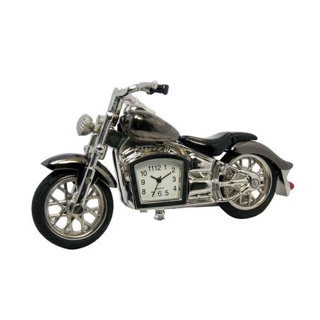 Sanis Enterprises C3265 Gunmetal Motorcycle Mini Desk Clock