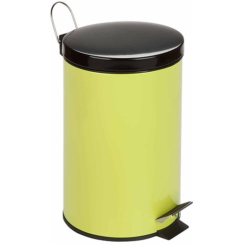 honey can do 12liter stainless steel step trash can red