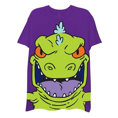 Ren /& Stimpy and Hey Arnold Oversize Print T-Shirt Invader Zim Nickelodeon Boys 90s Classic Shirt Rugrats