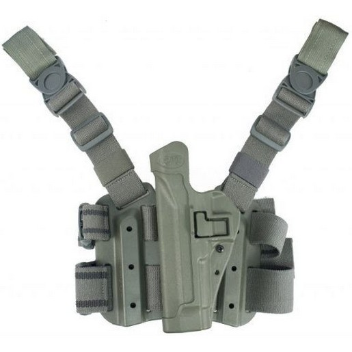 Blackhawk 430506OD-R Tactical Serpa Holster Olive Nylon RH for Sig 220