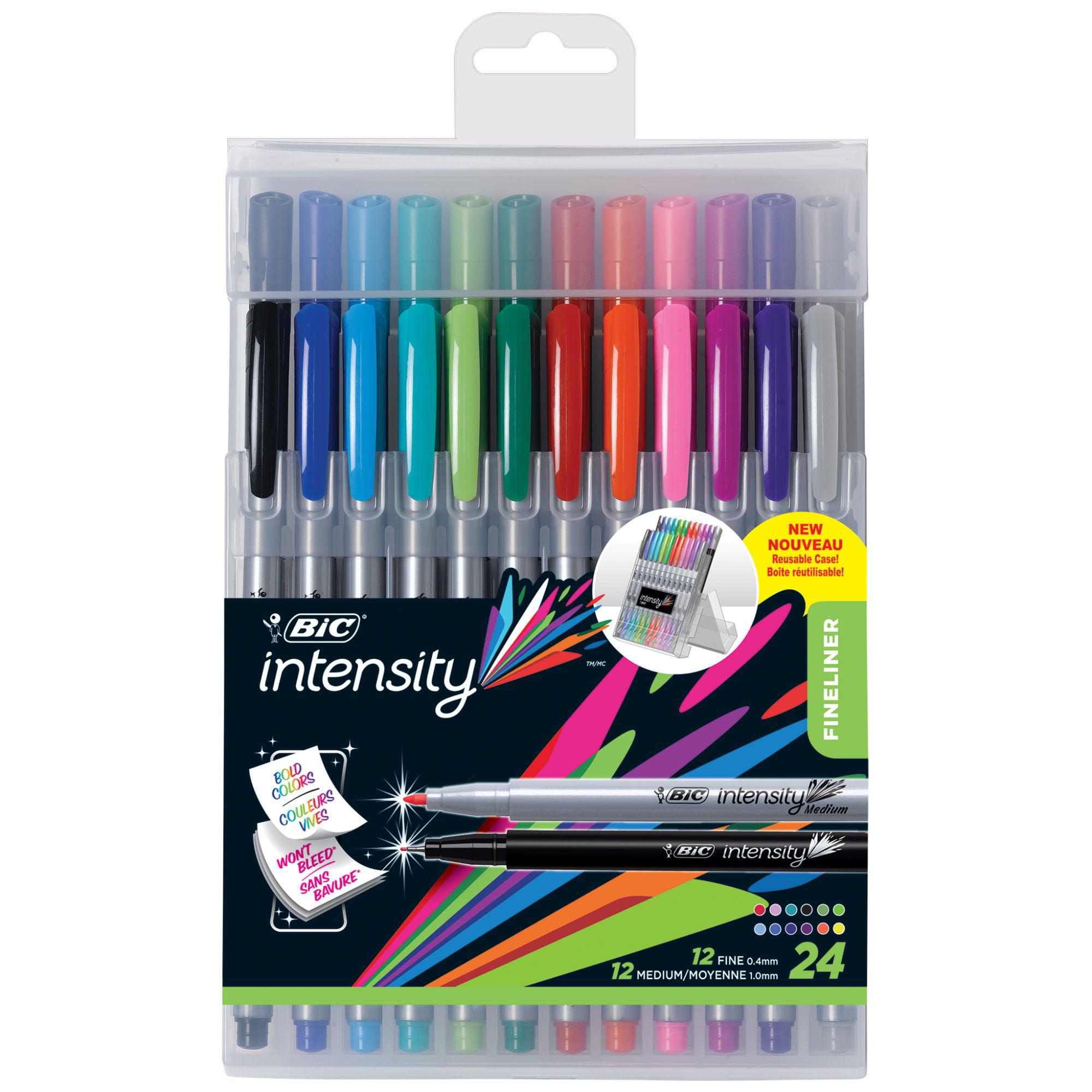 Hard Case Easel 12 Pack Fineliner Sharpie Art Pens Fine Point Assorted Colors