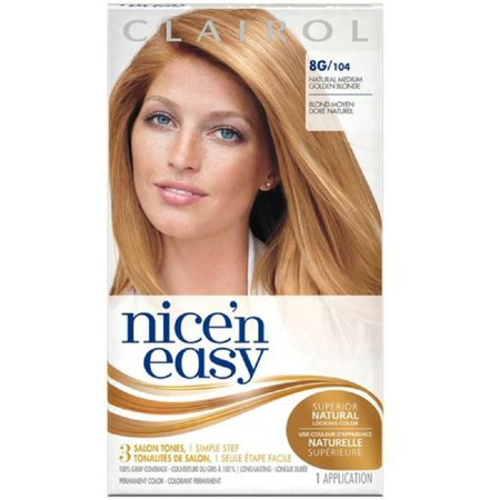 2 Pack - Nice 'n Easy Permanent Color, Natural Medium Golden Blonde [104] 1 ea Easy Stick Permanent Roll