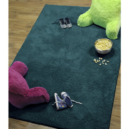 Comfort Shag Mint Green Rug - Your Zone Solid Textured Polyester Shag Rug Collection, Multiple Sizes and Colors