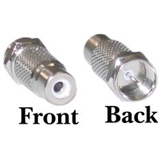 F-pin Male to RCA Female Adapter](Female To Male Transformation)