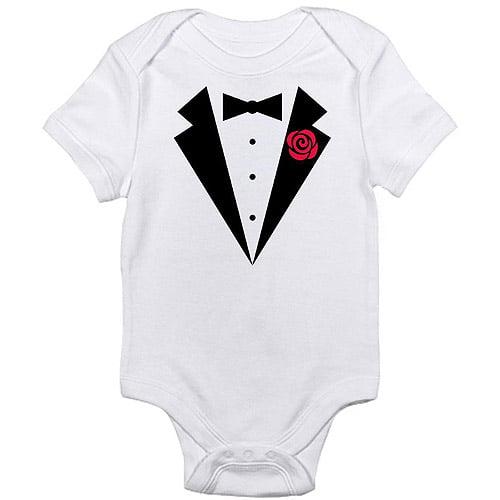 CafePress Newborn Baby Boy, Girl or Unisex Tuxedo Bodysuit