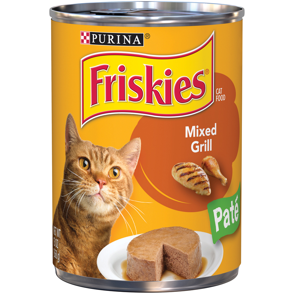 Friskies Classic Pate Mixed Grill Wet Cat Food, (12) 13 Oz. Cans