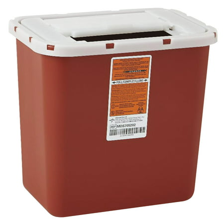 Bd Sharps Container (Medline Sharps Container, Freestanding/Wall Mountable, 8qt, 23 1/2 x 19 7/10 x 28, Red )